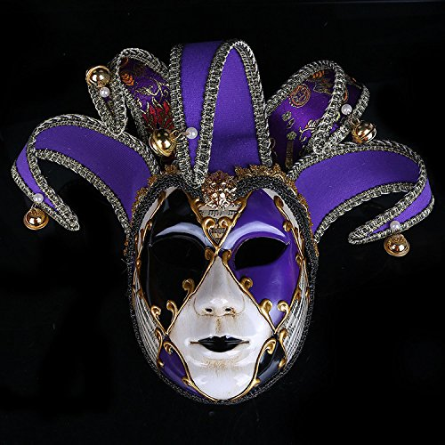 K&C Kostüm Maske Maskerade Maske Halloween Karneval Cosplay Party Masque Joker Maske Lila