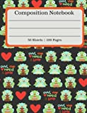 Composition Notebook: Cute Owl Composition Book (100 Pages | 50 Sheets)