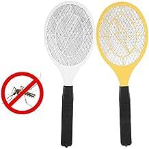Swatter Zapper électrique Anti-moustiques et Mouches Mosquito Killer Raquette pour intérieur et extérieur Camping Pêche Randonnée