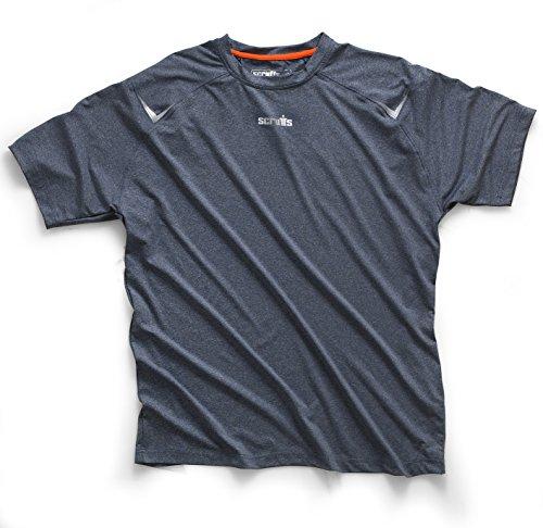 Scruffs t52804Größe M Active Poly T-Shirt–Grau (Poly-hemd)