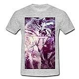 Wölfe Männer T-Shirt von Spreadshirt®, 4XL, Grau meliert