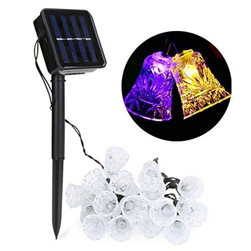 tte, 20 Glocken, 4,6 m, solarbetrieben, für DIY-Hochzeit, Party, Garten, Halloween-Dekoration ()