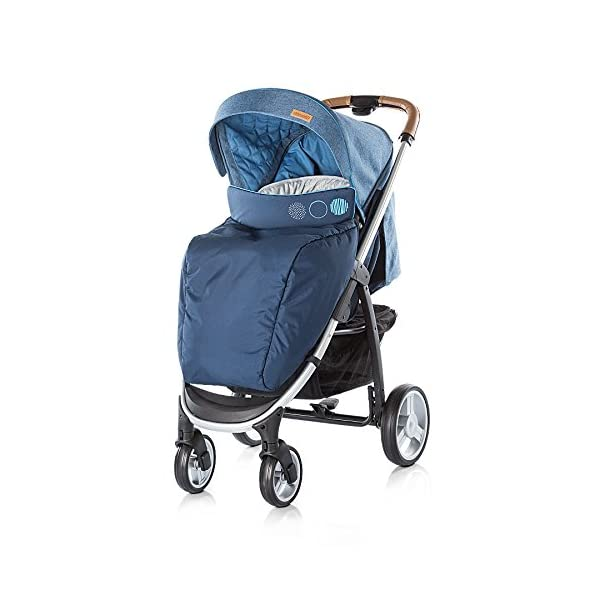 Chipolino Baby Stroller and Carry Cot Avenue, Navy Chipolino Can also be transformed into a carry cot Comfortable upholstered carrycot with mattress and carry handle Single front swivel lockable wheels 7