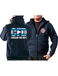 Survêtement à capuche bleu marine Chicago Fire Department–City Flag (tricolore)