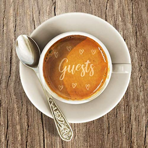 Guests: Rustic Wood Latte Art Coffee Guest Book