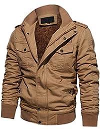 Cinnamou Chaquetas Trabajo de Hombre de Algodón Grueso Trajes y Blazers para Hombres en Cuello de Solapa Blusa Tops Lavado Abrigos