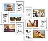 empireposter - Collage Bilderrahmen - Helsinki weiß Multishot - Größe (cm), ca. 51x59 - Wechselrahmen, NEU - Beschreibung: - Kunststoff-Rahmen mit Glasscheiben, weiß - Außengröße 51x59 cm für 12 Fotos 10x15 cm -