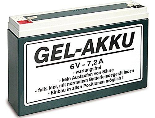 6V Vlies Batterie 7,2 Ah für Simson Mopeds inkl. 7,50 Pfand (1-019)