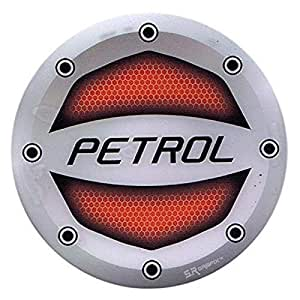 Ramanta Reflective Red Petrol Inside Decal Car Fuel Cap Sticker for Hyundai Grand i10 (Size: 12.5cm)