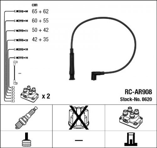 Preisvergleich Produktbild NGK 8620 Zündleitungssatz