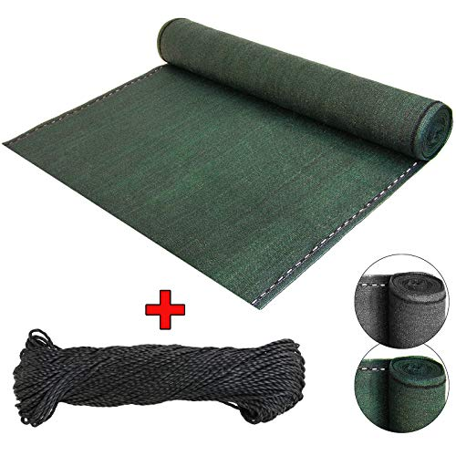 BB Sport Sichtschutz Zaunblende Schattiernetz - UV-resistent, reißfest, windfest - Grün 1m x 15m