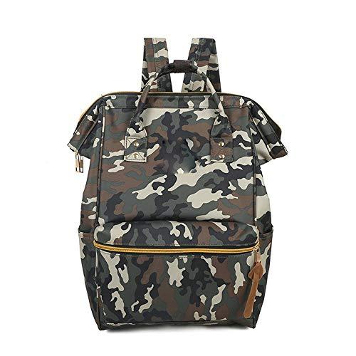 AUULANG Rucksack Kontrast Umhängetasche weiblichen Multicolor Casual Rucksack Student Tasche Reiserucksack, Camouflage