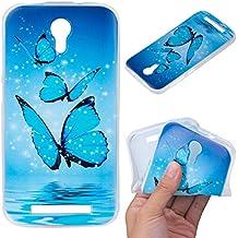 Para Doogee Valencia 2 Y100 / Y100 Pro (5 pulgadas) Funda ZeWoo® Carcasa y Funda de Silicona - O203 / Mariposa azul