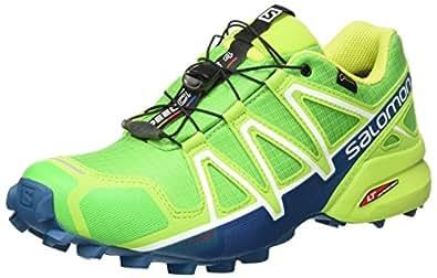 Salomon Speedcross 4, Scarpe da Trail Running Uomo, Verde (Classic Green/Lime Green/Poseidon 000), 40 EU