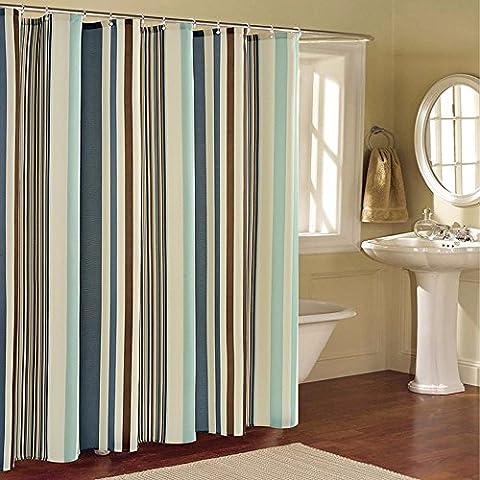 Stripe bagno tenda doccia sala doccia cortina di divisori la