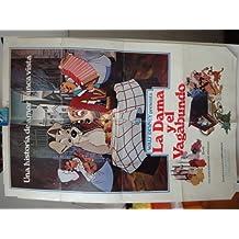 Original Spanish Movie Poster La Dama Y El Vagabundo The Lady And The Tramp Walt Disney
