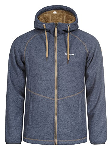 ICEPEAK Herren Kirk Fleece, Dunkelblau, S (Thermal Angeln Shirt)