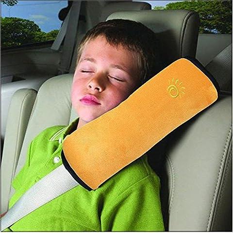 Kabalo Enfants Child Safety Car Ceinture de sécurité Oreiller Bandoulière Pad, Orange