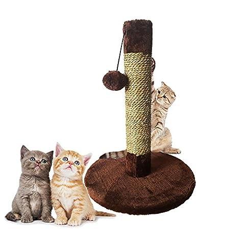 Interaktive Spielzeug Katze Sisal Katze Klettergerüst Mühle Kralle Katze Klettern Spalte Lustige Katze Liefert Katzenkratzbrett , Dark Brown , 30*42Cm