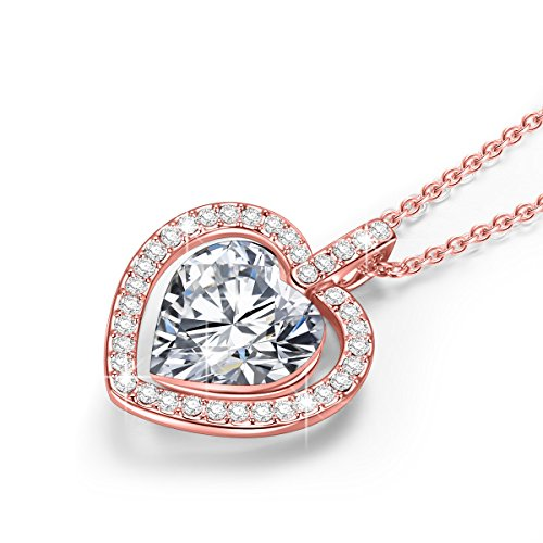 Lady colour - Tavarua Coeur - Collier Femme - cristaux de Swarovski - la collection CRISTAL COEUR Collier Femme Cristal Clair
