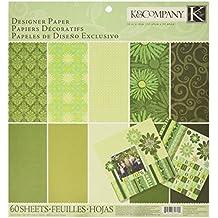 K & Company Papel Sheer Simplicity–Pad (30,4x 30,4cm 60sheets-green
