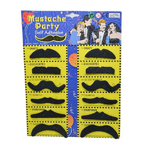 12Halloween-Kostüm Party Lustige Falsche Schnurrbart Bart Party (Kostüme Smarties)