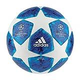 adidas Herren Finale 18 Offiziell Fußball, White/Fooblu/Brcyan, 5