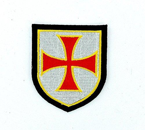 Ritter Paintball (Patch Ecusson-gesticktem zum Aufbügeln Tempelritter Wappen Kreuzzug Airsoft Ritter)