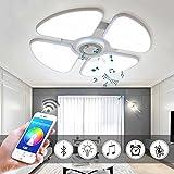 Hanamaki 48W LED Deckenleuchten mit Bluetooth Lautsprecher Smartphone App, Musik Lampe RGB Farbtemperatur Einstellbar, Diammble Cool White Runde Einbauleuchte Leuchte