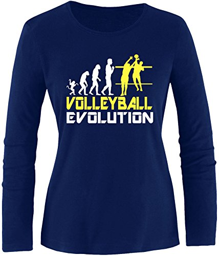EZYshirt® Volleyball Evolution Damen Longsleeve