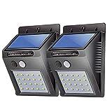 DIVAIS Confezione 2 Lampade Solari 20 led Impermeabili Sensore di movimento Giardino Terrazzo Casa