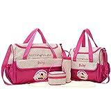 Balight Balight 5pcs Large Capacity Multifunktions Baby Durable Messenger Bag Windel Wasserdichte Windel Taschen Anzug