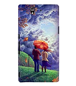 Printvisa Love Couple Admiring Nature Back Case Cover for Sony Xperia Z::Sony Xperia Z L36h