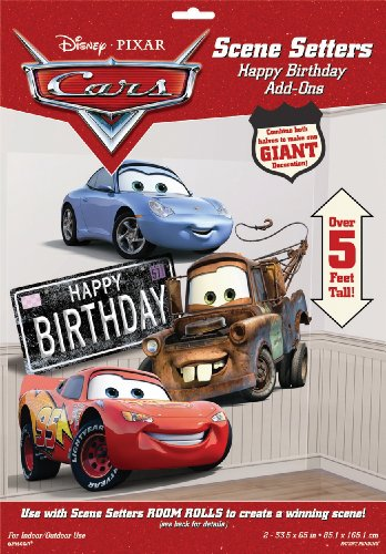 Disney Amscan Cars Happy Bday Scene Setter