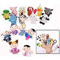 Binnan 16 Pcs Juguete Marionetas de Mano Animales Marionetas de Dedos para Niños Bebé