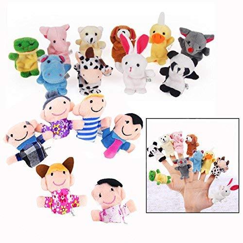 Binnan 16 Pcs Juguete Marionetas Mano Animales Marionetas