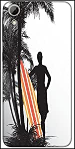 Snoogg Tropical Illustration Designer Protective Back Case Cover For HTC Desire 626