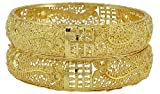 Banithani vergoldete Bollywood traditionelle 2 Pcs Kada Armreif Armband Braut Schmuck Set