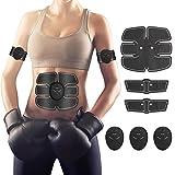 Hommie EMS Estimulador Músculo Tóner, Cinturón Abdominal Tonificación ABS, Entrenador Inalámbrico Portátil de Abdomen/Brazo/Pierna para Hombre o Mujer (Negro)