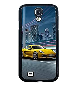 Fuson Premium 2D Back Case Cover Race car With yellow Background Degined For Samsung Galaxy S4 Mini::Samsung Galaxy S4 Mini i9190