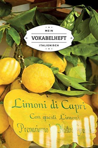 Mein Vokabelheft Italienisch: Motiv: Capri Zitronen | 6x9 Zoll Format (ca. 15x23 cm) | 120 linierte zweispaltige Seiten zum selbst Eintragen | Soft Cover 6 X Capri