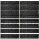 Mehrondo 30 Stück Dunkelgraue Filzstreifen Rohlinge FS212DG, 300x40x3 mm vorgeschnitten — ideal zum kreieren von Schlüsselanhänger und Schlüsselband