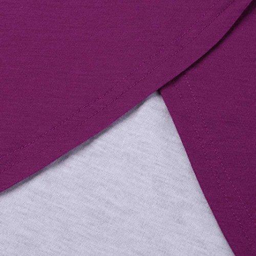 Maternité Allaitement T-Shirt Femme, Koly Chemisiers Blouse Double Couche Nursing Wrap Top Manches Court Vrac Blouse Maternity Shirt Rouge