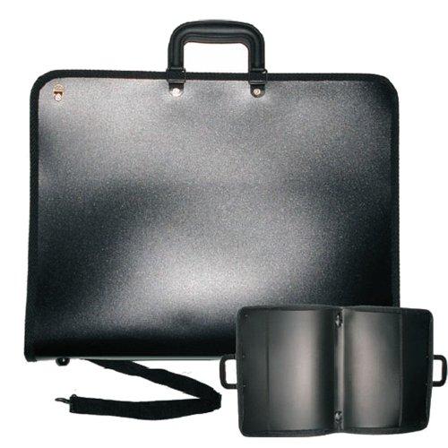 Zeichentasche schwarz mit Reißverschluss passend für B2 Zeichnungen - Tasche Zeichenblock