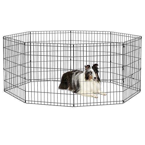 New World Pet Products B552-30Faltbar Übung Pet Laufgitter, schwarz, mittel/61x 76,2cm