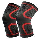 Kniebandage, Kniebandage, Kompression, Anti-Rutsch-Ärmel mit verstellbaren Riemen, elastische Bandage – beste Kniebandage für Laufen, Sport, Arthritis und Verletzungserholung