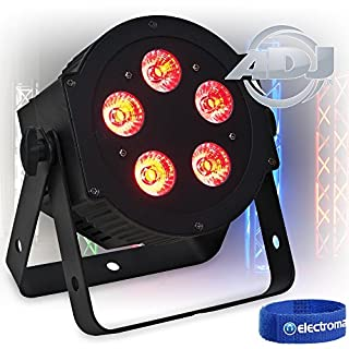 ADJ 5P HEX 5x 10W 6-In-1 RGBWA + UV LED PAR Can Light Uplighter Wash|American DJ