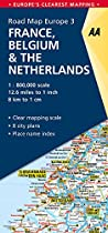 AA Road Map France, Belgium, Netherlands (Road Map Europe) (AA Road Map Europe)