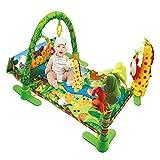 Baby-Spielmatte, Musik, Geräusche, Wald-Design, großer Teppich, krabbeln, Aktivitäten, Spielzeug, Fitness, lernen, Kissen für Baby, Kleinkind