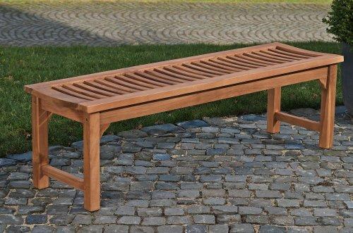 CLP Teakholz Garten-Bank HAVANA V2 ohne Lehne, Teak-Holz massiv (bis zu 8 Größen wählbar) 160 x 45 x 45 cm - 2